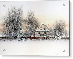 An Evening Silent And Still Acrylic Print by Conrad Mieschke