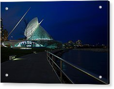 An Evening Stroll At The Calatrava Acrylic Print by Chuck De La Rosa