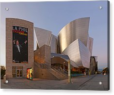Acrylic Print featuring the photograph An Evening With Gustavo - Walt Disney Concert Hall Architecture Los Angeles by Ram Vasudev
