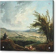 An Extensive Landscape Near Paris Acrylic Print by Georgia Fowler