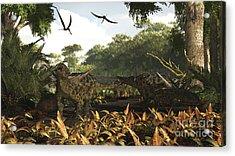 An Group Of Ankylosaurid Dinosaurs Acrylic Print