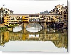 An Icon Of Florence -ponte Veccio Acrylic Print