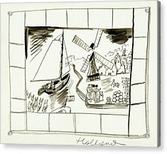 An Illustrated Depiction Of Holland Acrylic Print by Ludwig Bemelmans
