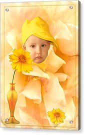 An Image Of A Photograph Of Your Child. - 09 Acrylic Print