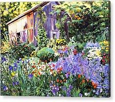 An Impressionist Garden Acrylic Print by David Lloyd Glover