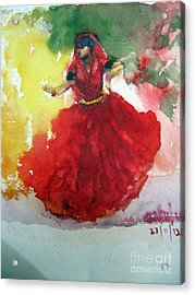 An Indian Dancer Acrylic Print