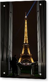 An Intimate Moment With Eiffel Acrylic Print by John Daly