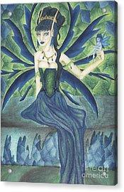 An Ironic Portrait Of Royalty Acrylic Print by Coriander  Shea