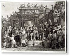 An Itinerant Chinese Doctor At Acrylic Print by Mary Evans Picture Library