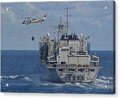 An Mh-60s Sea Hawk Conducts A Vertical Acrylic Print by Stocktrek Images