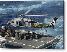 An Mh-60s Sea Hawk Helicopter Picks Acrylic Print by Stocktrek Images