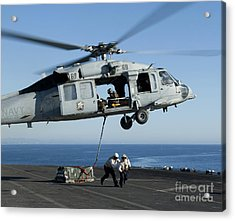 An Mh-60s Sea Hawk Helicopter Prepares Acrylic Print by Stocktrek Images