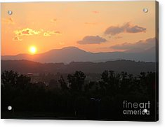 An Oak Ridge Sunset Acrylic Print