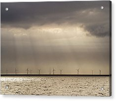 An Offshore Wind Farm In Dutch Waters Acrylic Print by Ashley Cooper