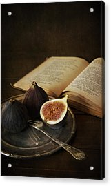 An Old Books And Fresh Figs Acrylic Print