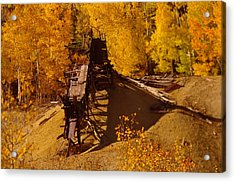 An Old Colorado Mine In Autumn Acrylic Print by Jeff Swan