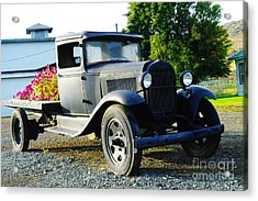 An Old Farm Truck  Acrylic Print by Jeff Swan