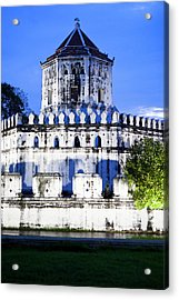 An Old Fortress On The Side Of The Chao Acrylic Print by Micah Wright