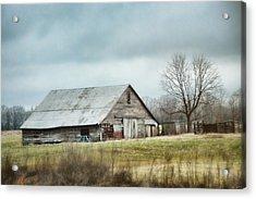 An Old Gray Barn Acrylic Print by Jai Johnson