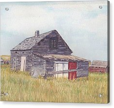 Acrylic Print featuring the painting An Old Memory Home In The Grand Prairies by Kelly Mills