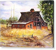 An Old Red Barn Acrylic Print