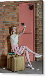 An Old Self Portrait Acrylic Print by Kirsten Woodforth