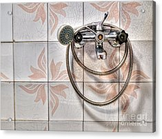 An Old Shower Acrylic Print by Sinisa Botas