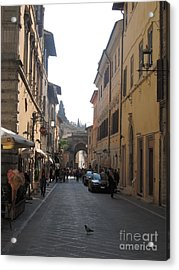 An Old Street In Assisi Italy  Acrylic Print by Anthony Morretta