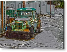 Acrylic Print featuring the photograph An Old Truck by Timothy Latta