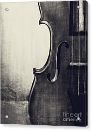 An Old Violin In Black And White Acrylic Print