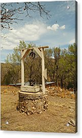 An Old Well In Lincoln City New Mexico Acrylic Print by Jeff Swan