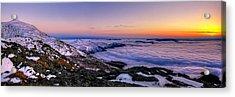 An Undercast Sunset Panorama Acrylic Print