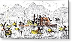 An Unrecorded Naval Engagement In Primeval Times Acrylic Print