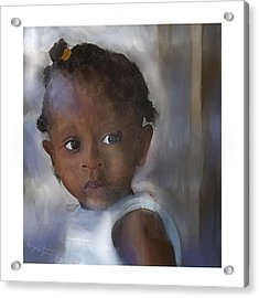 Acrylic Print featuring the painting Ana  by Bob Salo