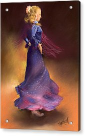 Ana Acrylic Print by Margaret Merry
