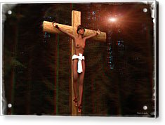 Anaglyph Martyr In The Forest Acrylic Print