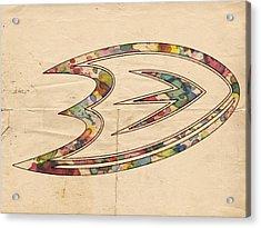 Anaheim Ducks Logo Art Acrylic Print