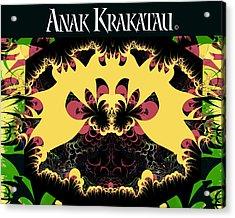 Anak Krakatau - Child Of Krakatoa Acrylic Print by Jim Pavelle