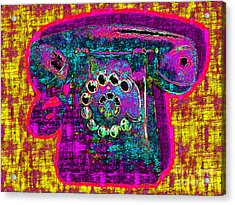 Analog A-phone - 2013-0121 - V1 Acrylic Print by Wingsdomain Art and Photography