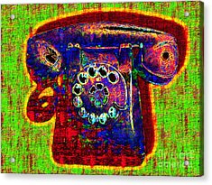 Analog A-phone - 2013-0121 - V2 Acrylic Print by Wingsdomain Art and Photography