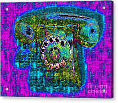 Analog A-phone - 2013-0121 - V3 Acrylic Print by Wingsdomain Art and Photography