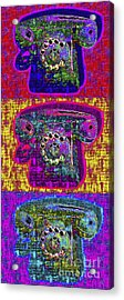 Analog A-phone Three - 2013-0121 Acrylic Print by Wingsdomain Art and Photography