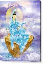 Acrylic Print featuring the photograph Anavatapta Kuan Yin by Lanjee Chee