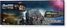Anchorage Alaska Panoramic Acrylic Print by Retro Images Archive
