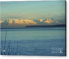 Acrylic Print featuring the photograph Anchorage Mountains by Brigitte Emme