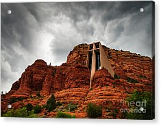 Acrylic Print featuring the photograph Anchored On The Rock Sedona Az by Terry Garvin