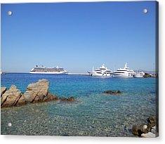 Anchored Ships Acrylic Print