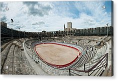 Ancient Amphitheater In A City, Arles Acrylic Print by Panoramic Images
