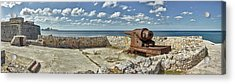 Ancient Artillery At Morro Castle Acrylic Print