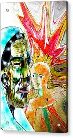 Ancient Aztec Dreamer Acrylic Print by Jazzboy